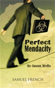Book cover of the play Perfect Mendacity